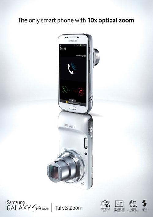Camera smartphone with LTE: Samsung Galaxy S4 zoom